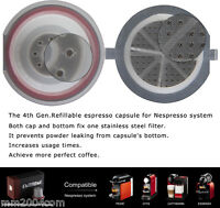 4th Generation 10 X  NEW Nespresso Refillable Capsule set REUSABLE SAVE $$$$$$$