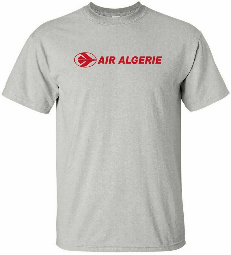air algerie cool retro algerian airline logo aviation t shirt ebay. Black Bedroom Furniture Sets. Home Design Ideas