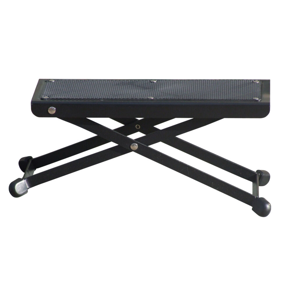 Heavy Duty Quality Black Adjustable Guitar Foot Rest Stool