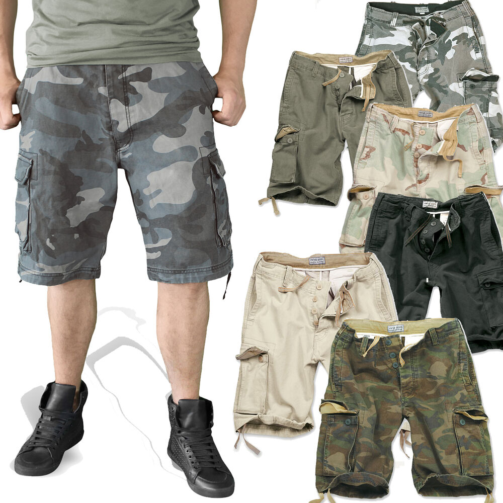 surplus herren vintage cargo shorts bermuda kurze hose army bw tarn forst 5596 ebay. Black Bedroom Furniture Sets. Home Design Ideas