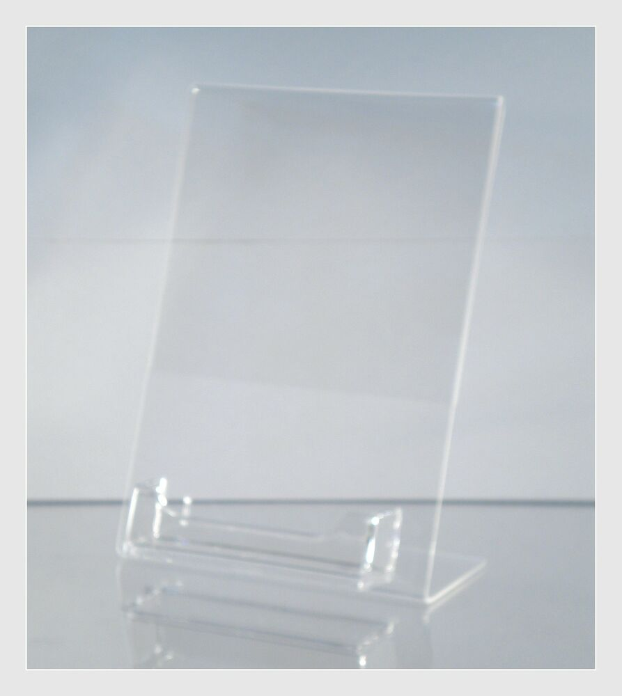 10 acrylic 5quot x 7quot slanted picture frame holders with for Business card picture frame