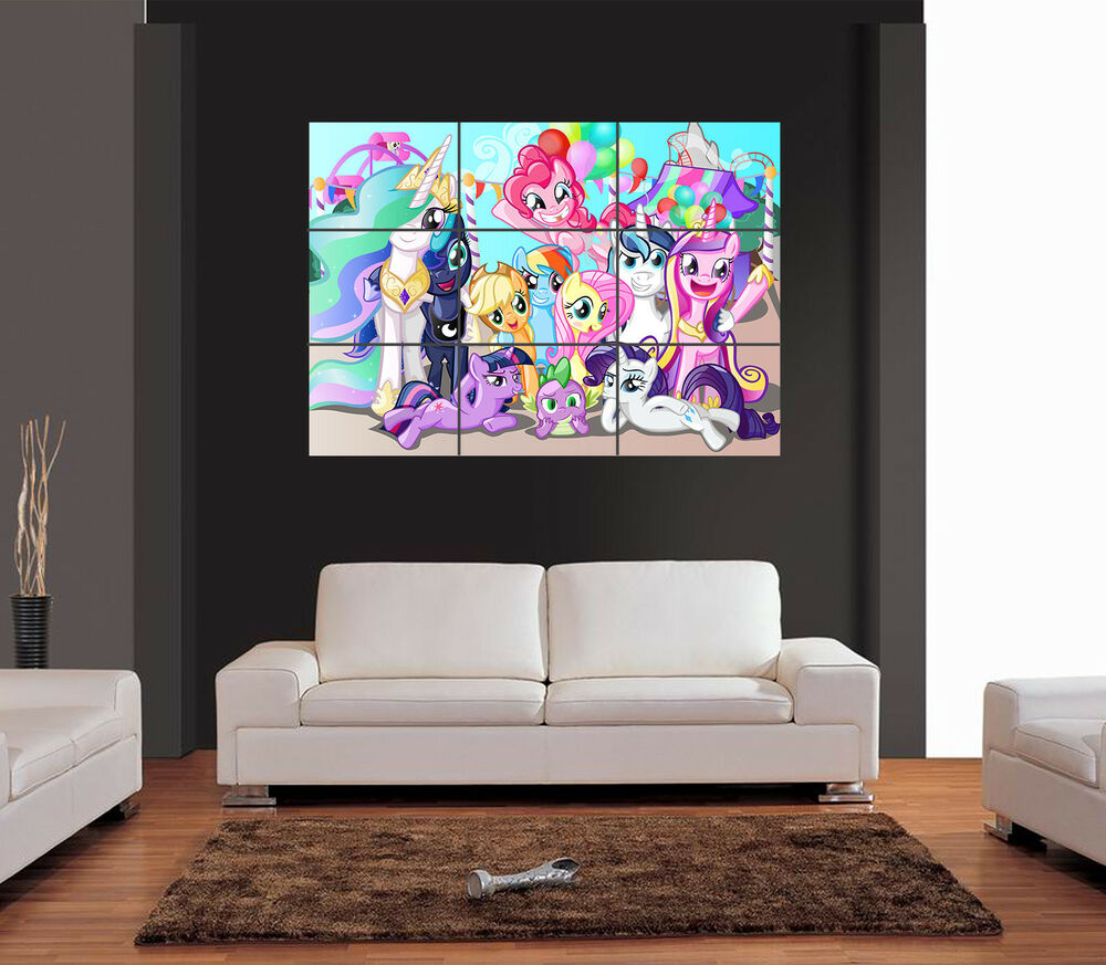 my little pony giant wall art print picture poster ebay. Black Bedroom Furniture Sets. Home Design Ideas