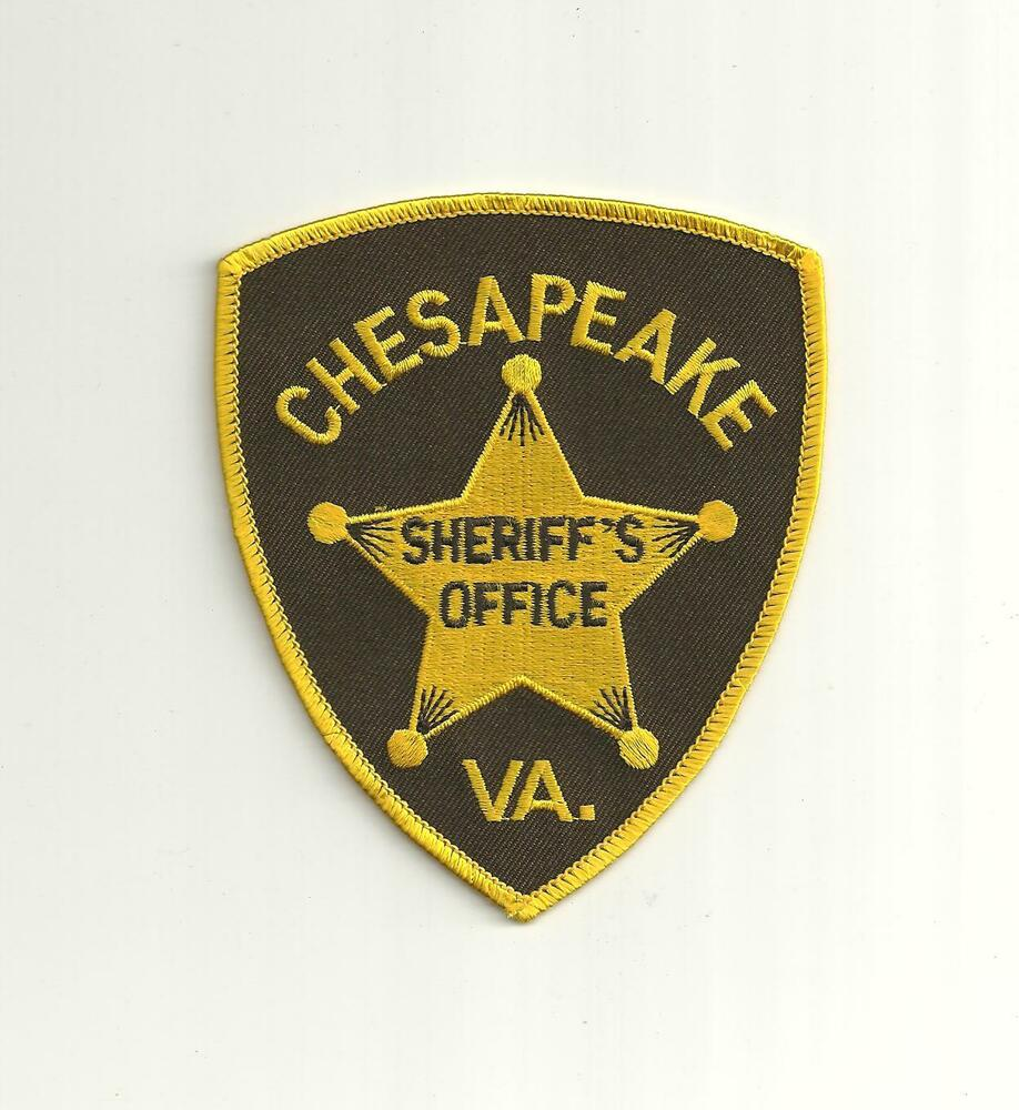 CHESAPEAKE VIRGINIA SHERIFF`S OFFICE POLICE PATCH | eBay