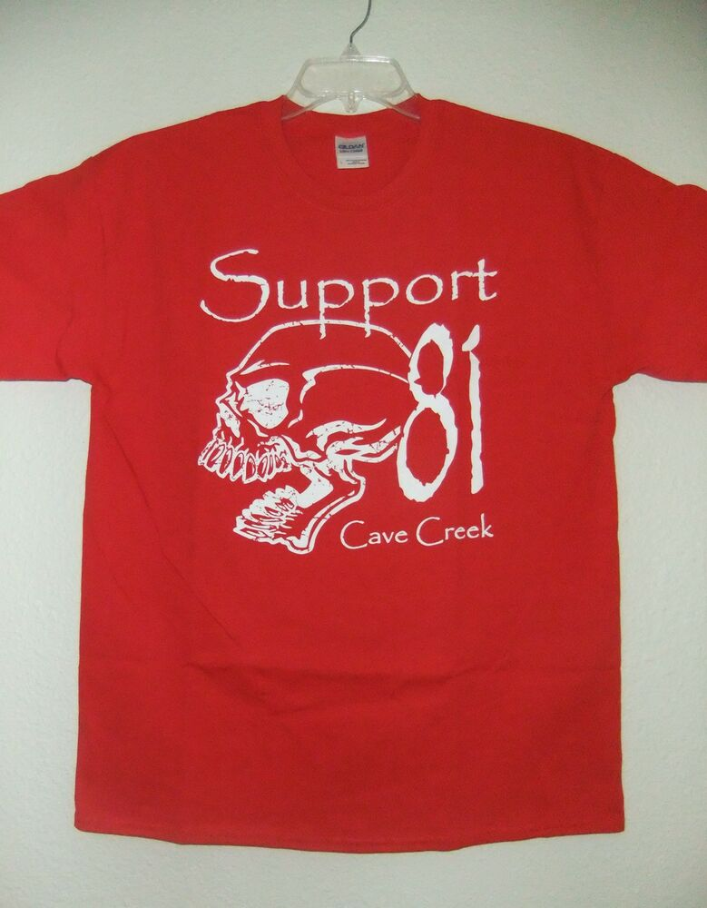 hells angels cave creek mens skull support t shirt ebay. Black Bedroom Furniture Sets. Home Design Ideas