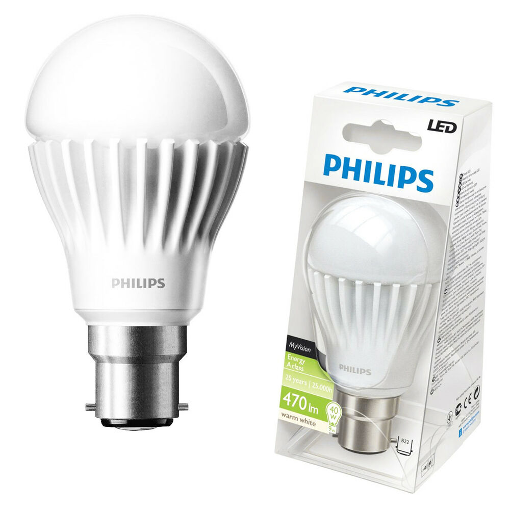 philips led 9w 40w dimmable bc b22 warm white light bayonet cap gls globe bulbs ebay. Black Bedroom Furniture Sets. Home Design Ideas