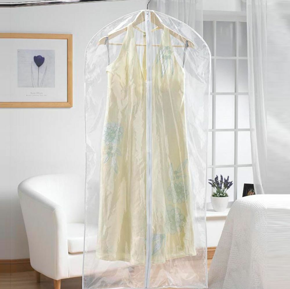 2 strong clear see through moth proof plastic dress for Clear plastic dress shirt bags