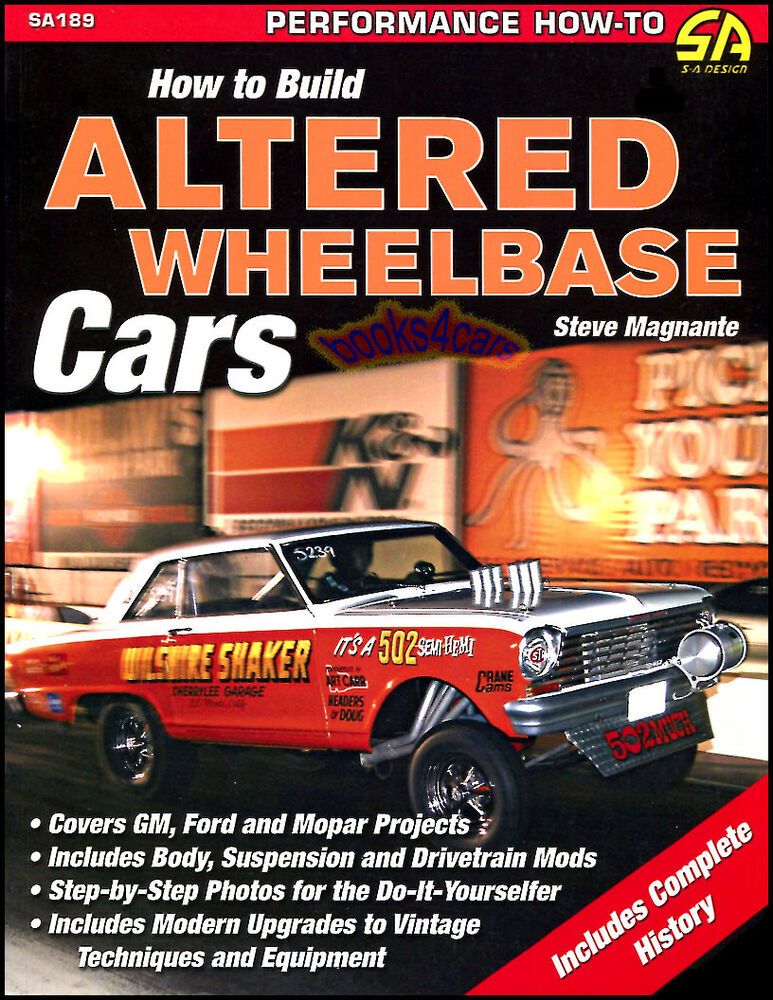how to build altered wheelbase cars book drag racing manual magnante funny car ebay. Black Bedroom Furniture Sets. Home Design Ideas
