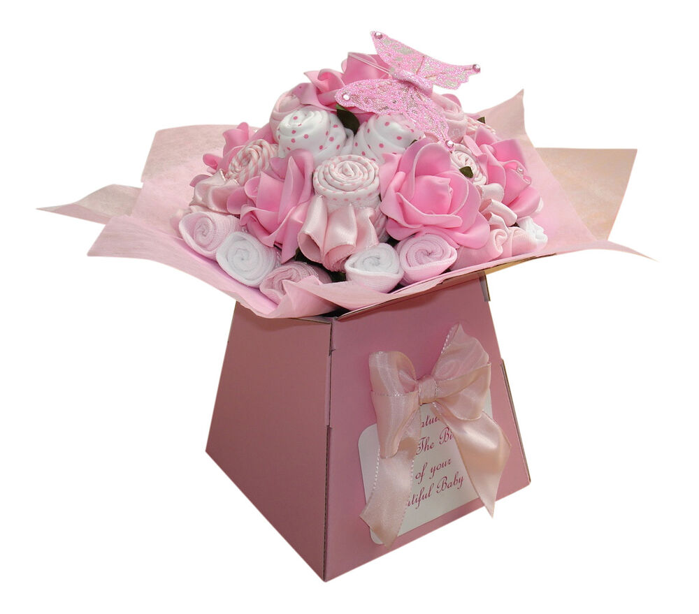 Baby Shower Gifts Expectations ~ Baby bouquet items of clothes shower gift