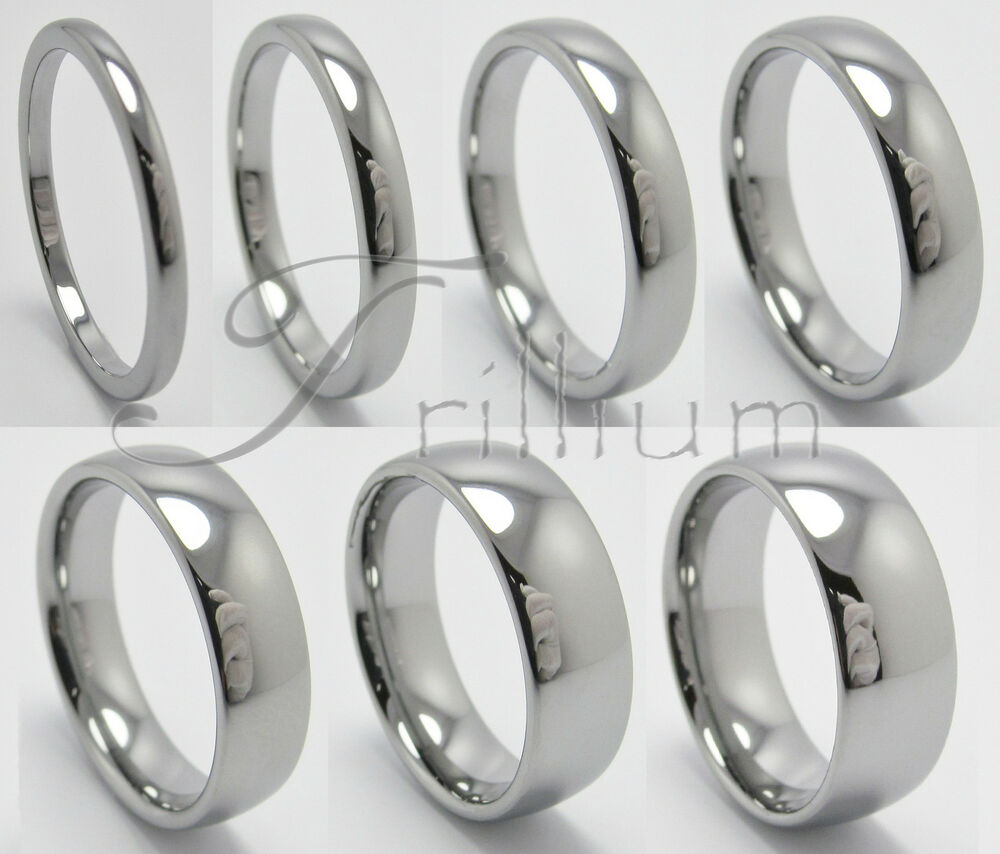 men women tungsten carbide wedding band plain ring size 4 to 14 5