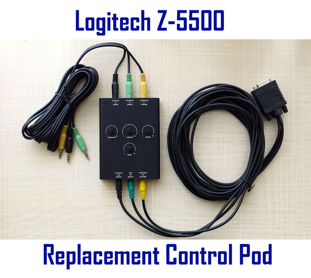 Logitech z 5500 speakers replacement control pod pre636 for 5500 3