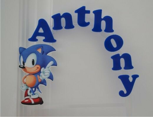 Sonic the Hedgehog PERSONALIZED cake topper or ANY ...