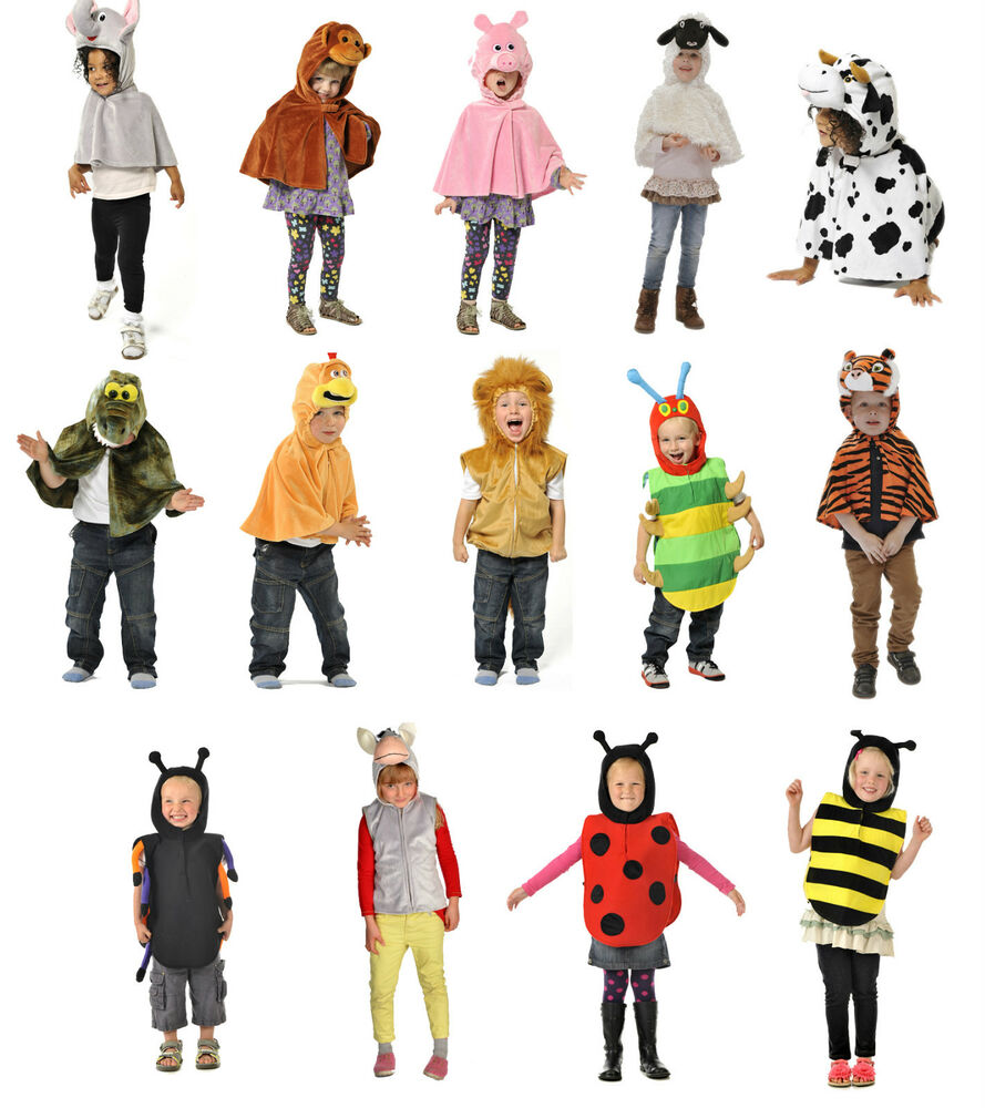Dress Up: Children's Kids Boys Girls Zoo Farm Animal Cape & Tabard