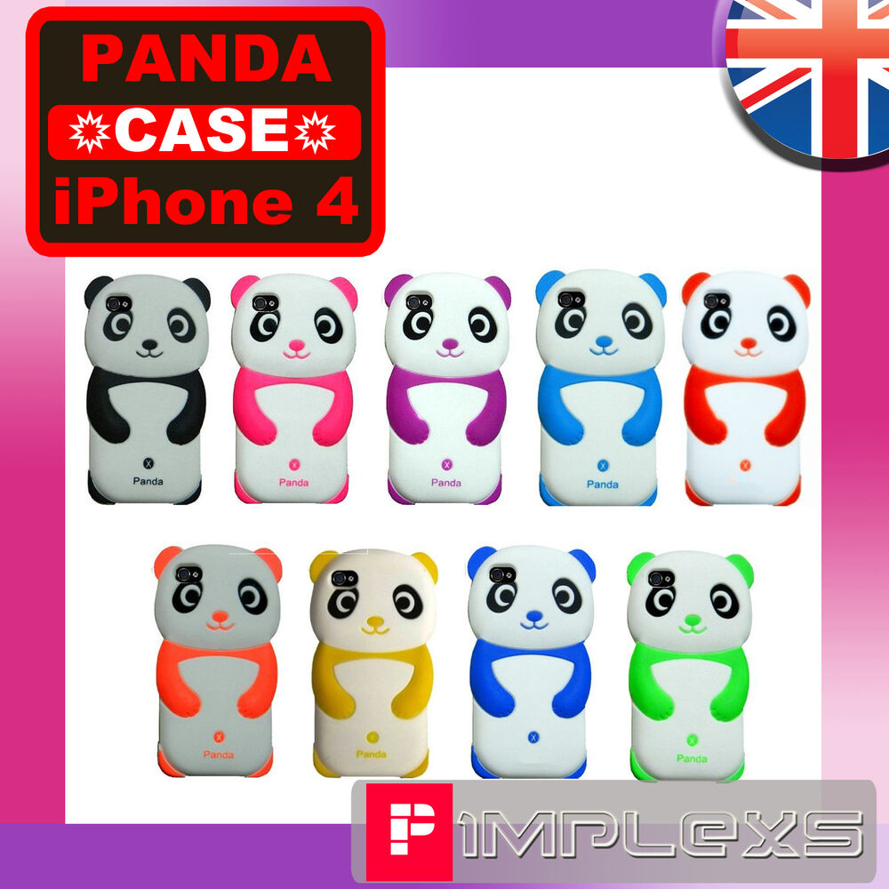 cute iphone 4s cases silicone panda soft for iphone 4 4g 4s safari 1782