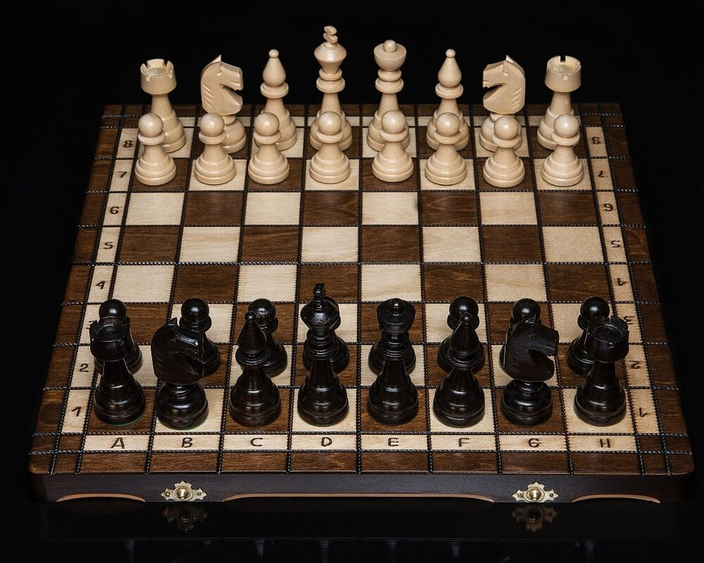 Brand new hand crafted club style wooden chess set 42 for Hand crafted chess set
