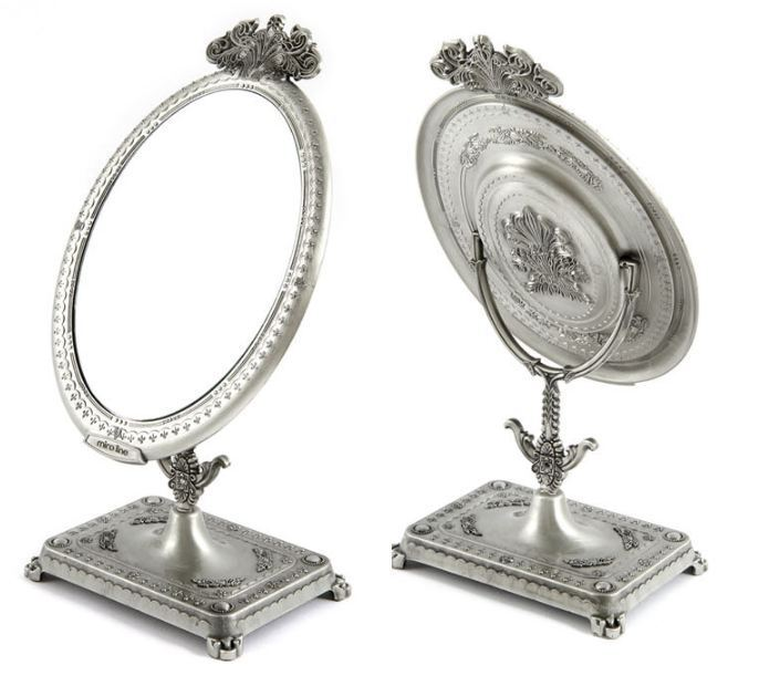 Antique Style Table Mirror Makeup Mirror Standing Stand