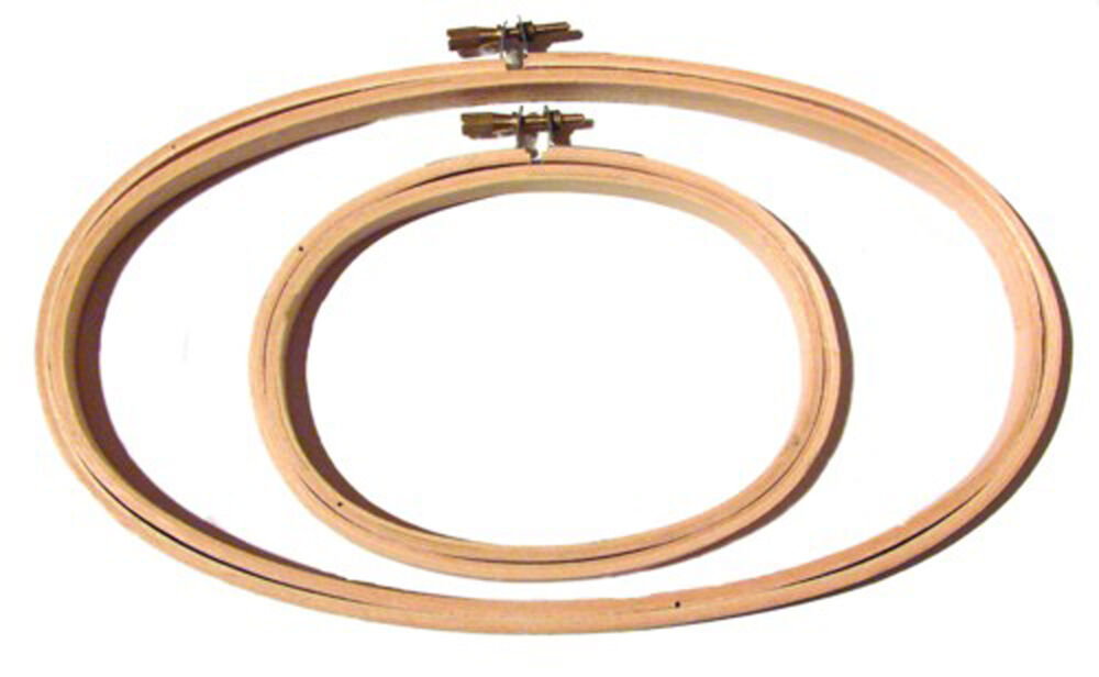 Lightweight wooden oval hoop quot for embroidery ebay
