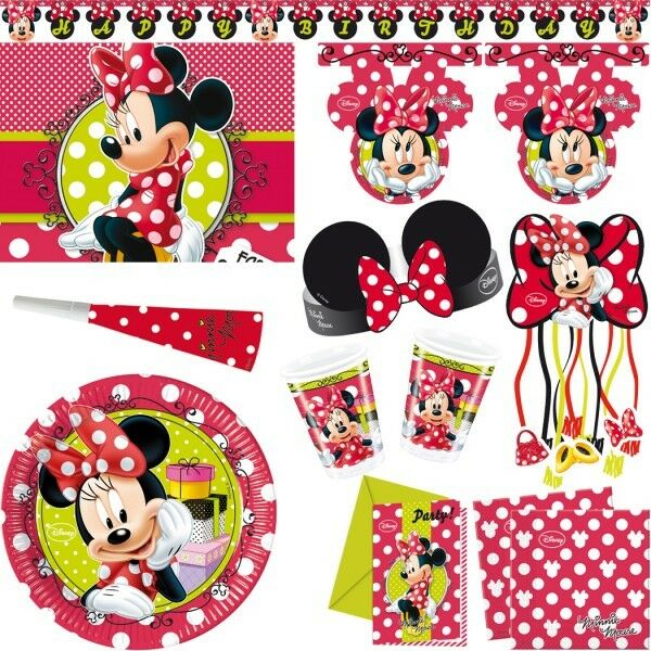minnie maus kindergeburtstag party kinderparty minni mouse deko geburtstag set ebay. Black Bedroom Furniture Sets. Home Design Ideas