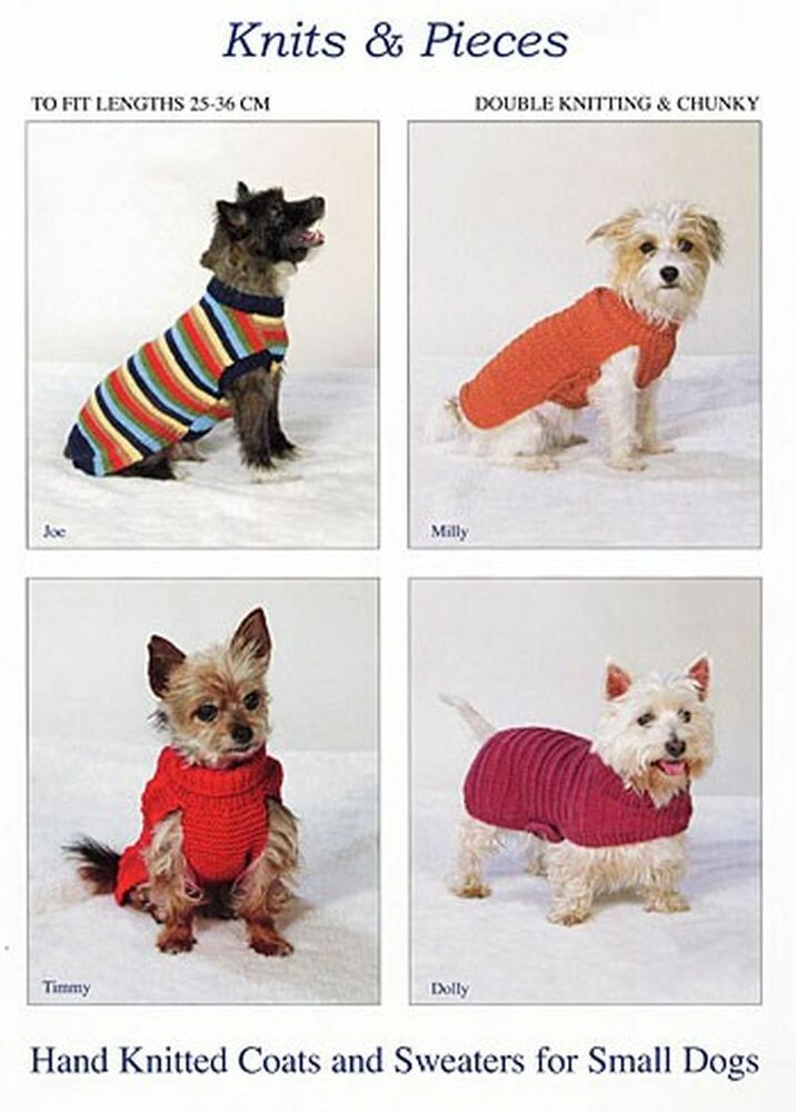 Knitting Pattern For Small Dog Clothes : Retro Style Knitting Pattern Dog Coat - Small, Greyhounds, Whippets, Chihuahu...