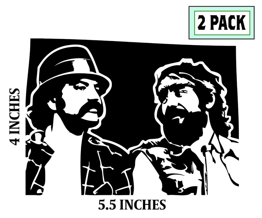 2 CHEECH AND CHONG Stickers Cut Vinyl Decals Up In Smoke