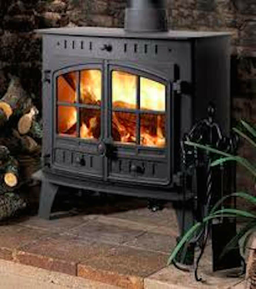 Hunter Herald 80b Central Heating Stove New Multi Fuel Wood Burning Fire Double Ebay