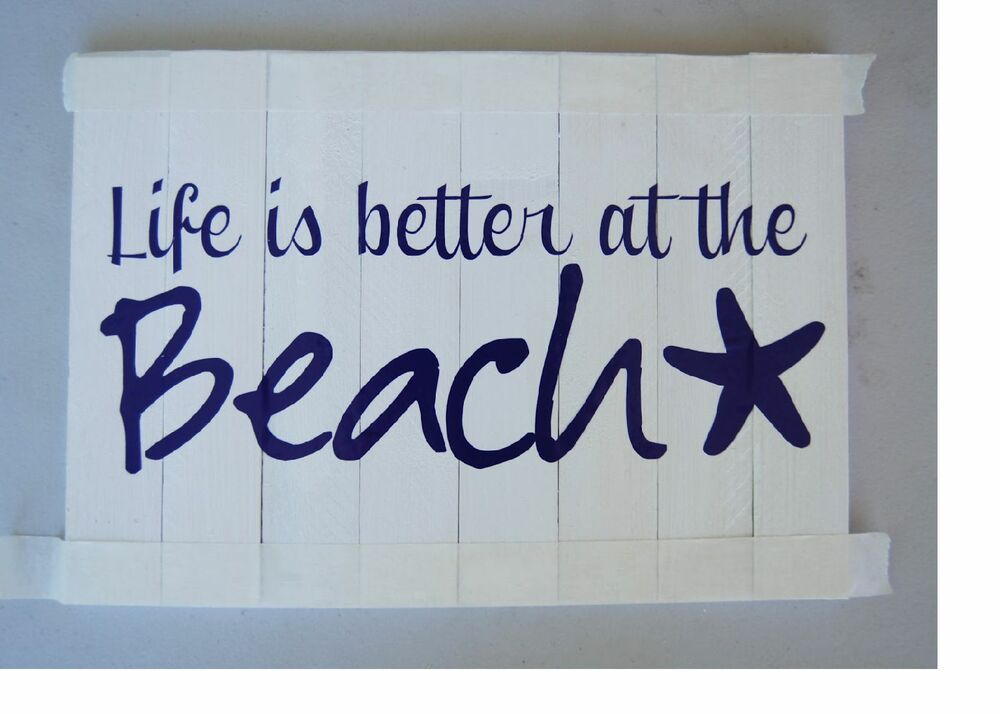 Life is better at the beach vinyl lettering wall quotes for Life is good home decor