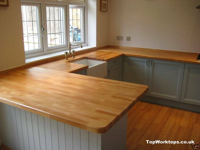 Solid wood beech worktop m mm ebay