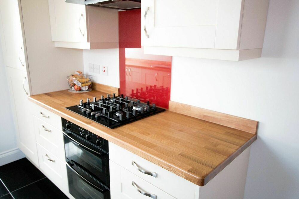 Beech Work Tops ~ Solid beech worktop m mm all sizes