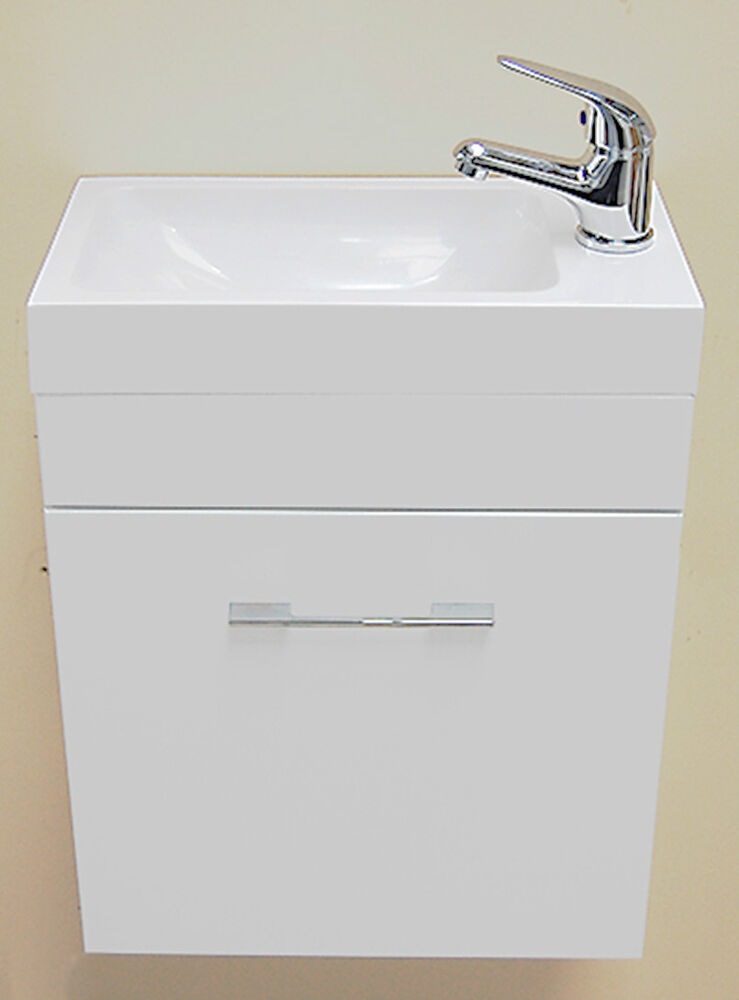 Wall Hung Cloakroom Basin Unit : ... Wall Hung Square Basin Cloakroom Furniture Vanity Unit Sink eBay