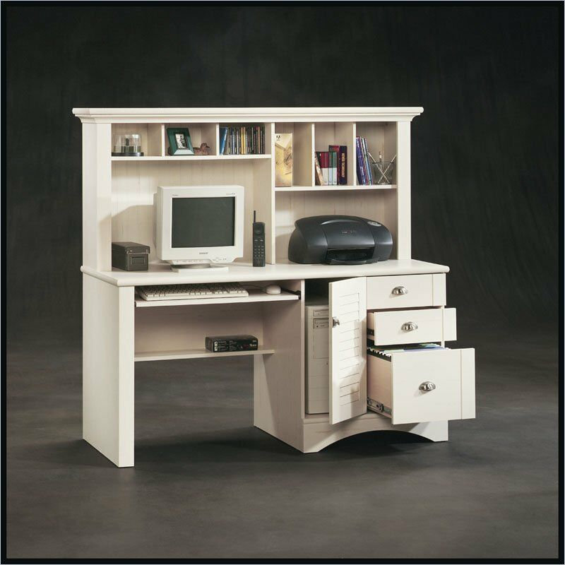 Antique White Computer Desk Www Imgkid Com The Image