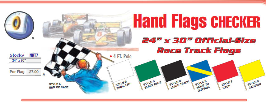 racing checkered flag 24 x 30 official size race track flags end