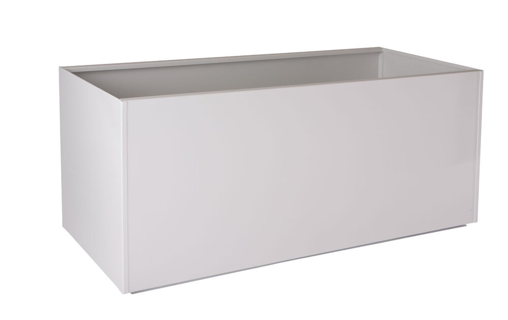 White Red Black Gray Rectangular Trough Metal Planter Box