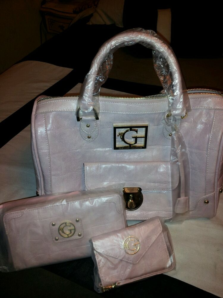 Authentic Gretchen Rossi Rhoc Limited Edition Igo Pink Satchel Purse Wallet Ebay