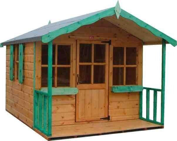6x6 childrens wooden playhouse 6ft x 6ft wendy house t g for Childrens play house