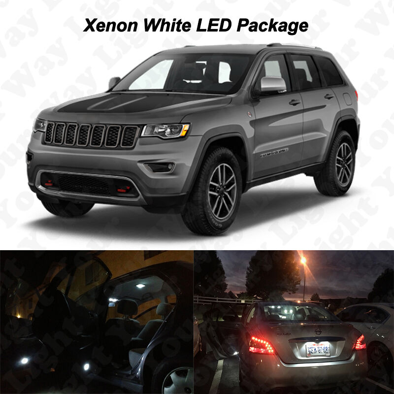 14x White Led Interior Bulbs License Plate Lights For 2011 2017 Grand Cherokee Ebay