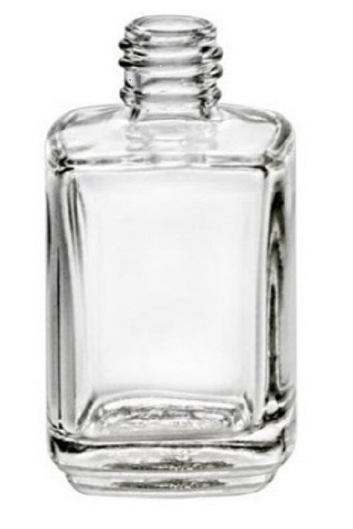 Empty Nail Polish Square Shape Bottle 1 2oz Clear Glass Lot Of 6 W Brush Amp Cap Ebay