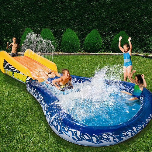 Water Splash Slide Kiddie Swim Pool W Board Cool Summer Activity Slide Toy Fun Ebay