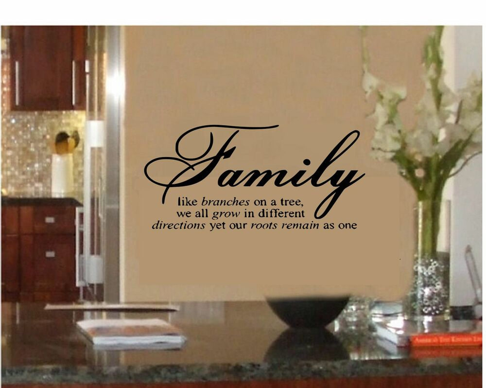 From Seword Wall Art Vinyl Lettering Home Decor ~ Family like branches on a tree vinyl lettering wall quotes