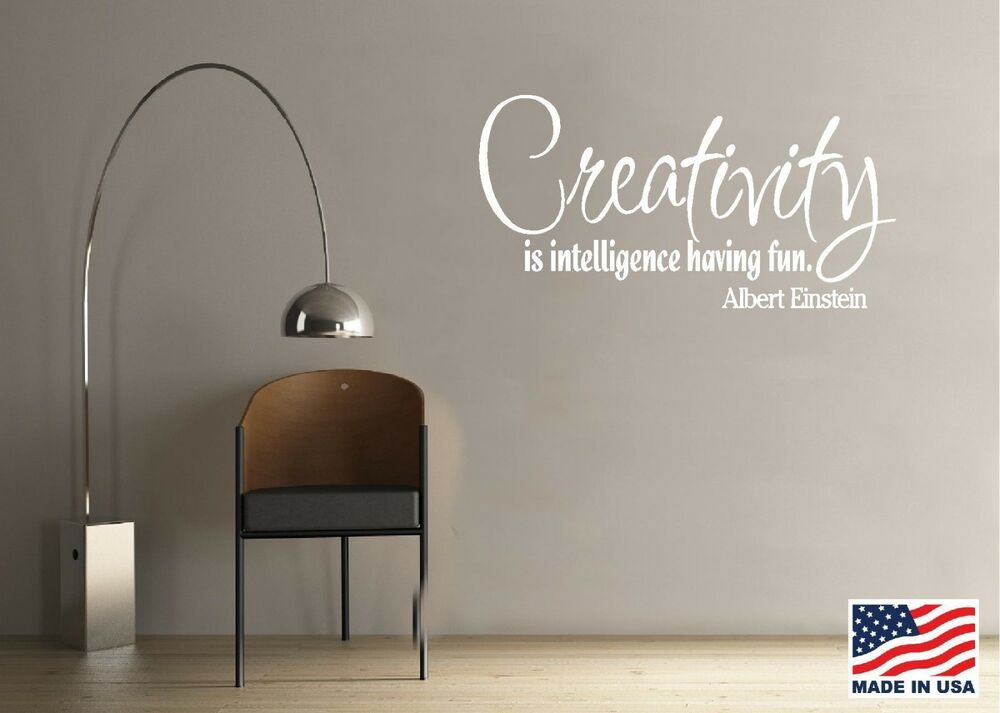 Vinyl Wall Decal Art Quote Saying Decor Creativity Is