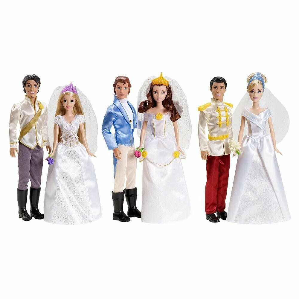 Wedding Gift Set Barbie : BARBIE DISNEY PRINCESS FAIRYTALE WEDDING GIFT SET BELLA RAPUNZEL ...