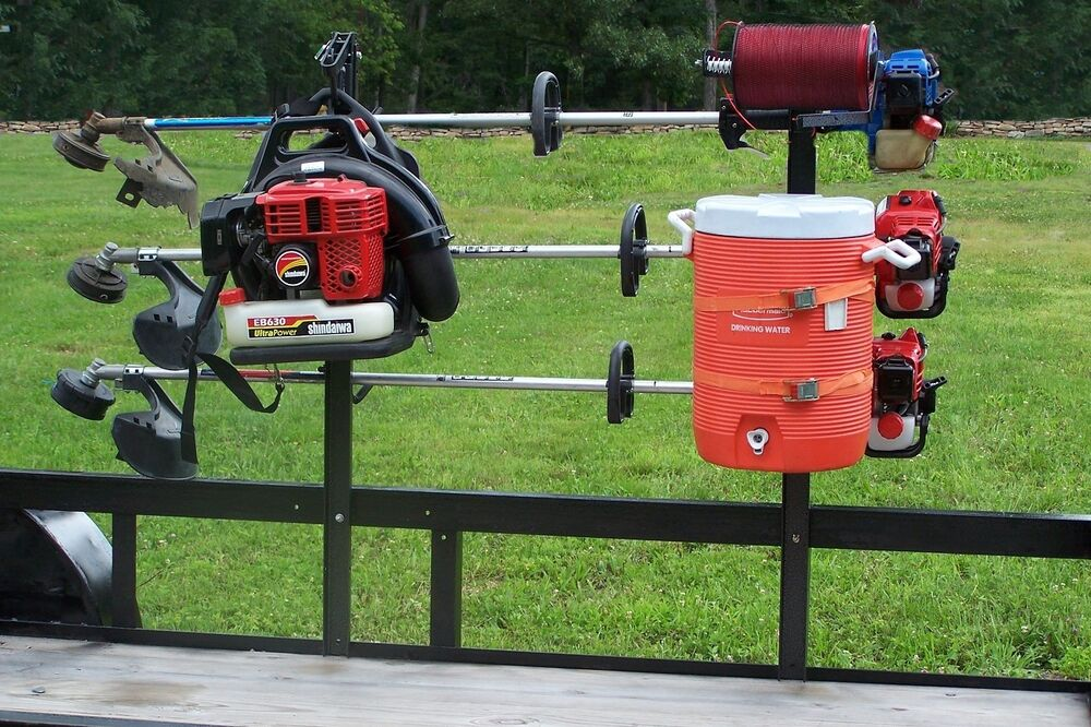 Trimmer Rack System All In One Open Landscape Trailer
