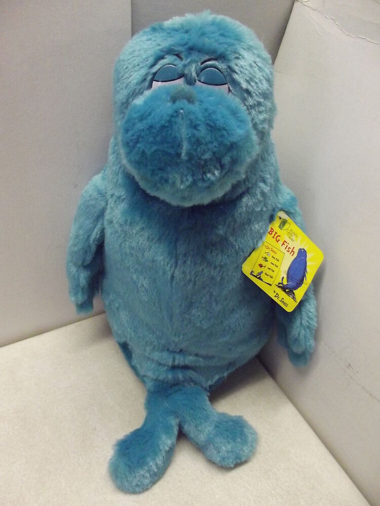 Dr seuss one fish two fish red fish blue fish big 12 for Fish stuffed animals