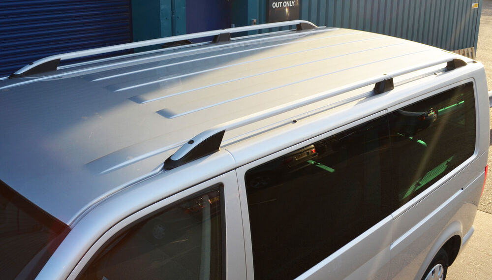 Vw Volkswagen T5 Caravelle Brushed Aluminium Roof Rack