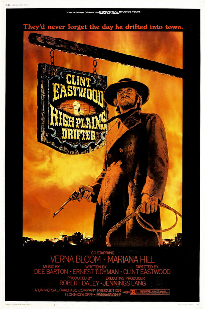 high plains drifter movie poster clint eastwood western ebay. Black Bedroom Furniture Sets. Home Design Ideas