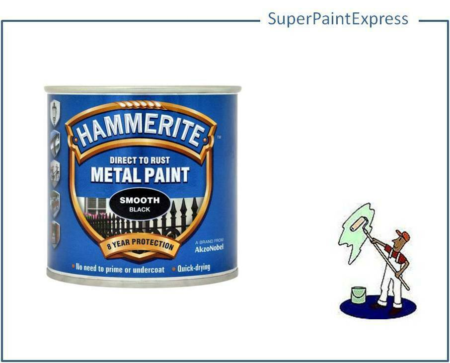 Hammerite Smooth Metal Paint 250ml All Colours Available ...