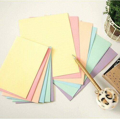 letter stationery rainbow pastel color letter set 12sh writing stationery 23156 | s l1000