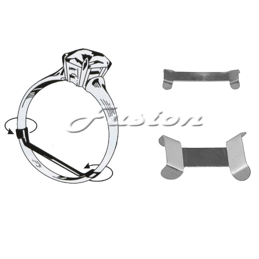 Ring sizer on screen - Sterling 925 Silver Ring Clip Size Adjuster Reducer Re Sizer