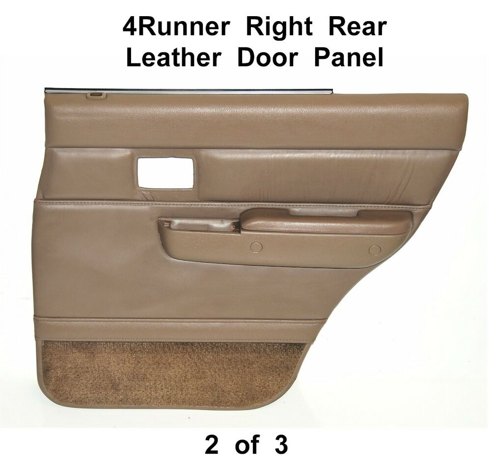 Toyota 4runner Surf Right Rear Tan Leather Door Panel W