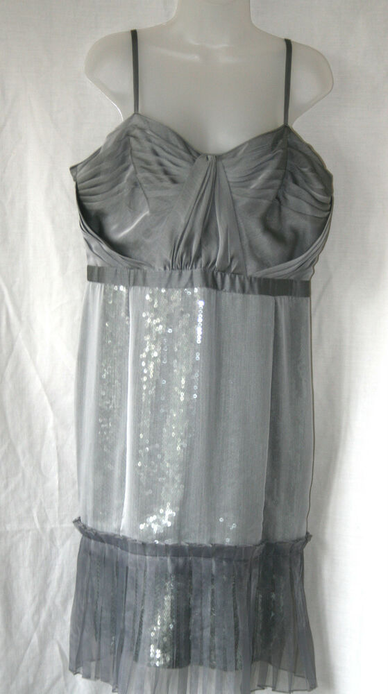 DESIGNERS AT DEBENHAMS (UK18 / EU46) SILVER GREY DRESS ...