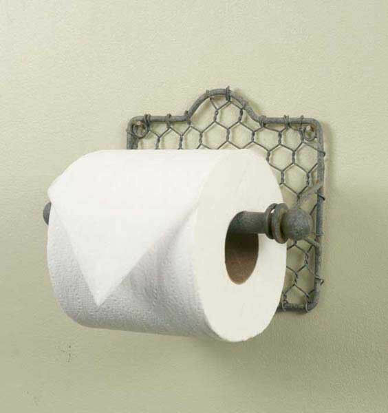 Rustic Classic Early American Chicken Wire Toilet Tissue