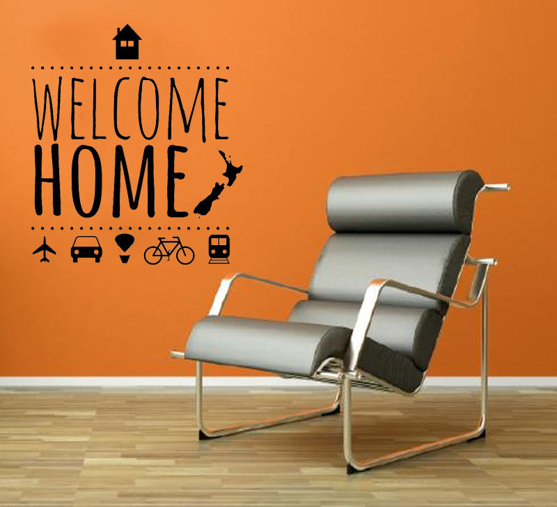 WELCOME HOME Wall Quote Art Decal Vinyl Sticker Removable